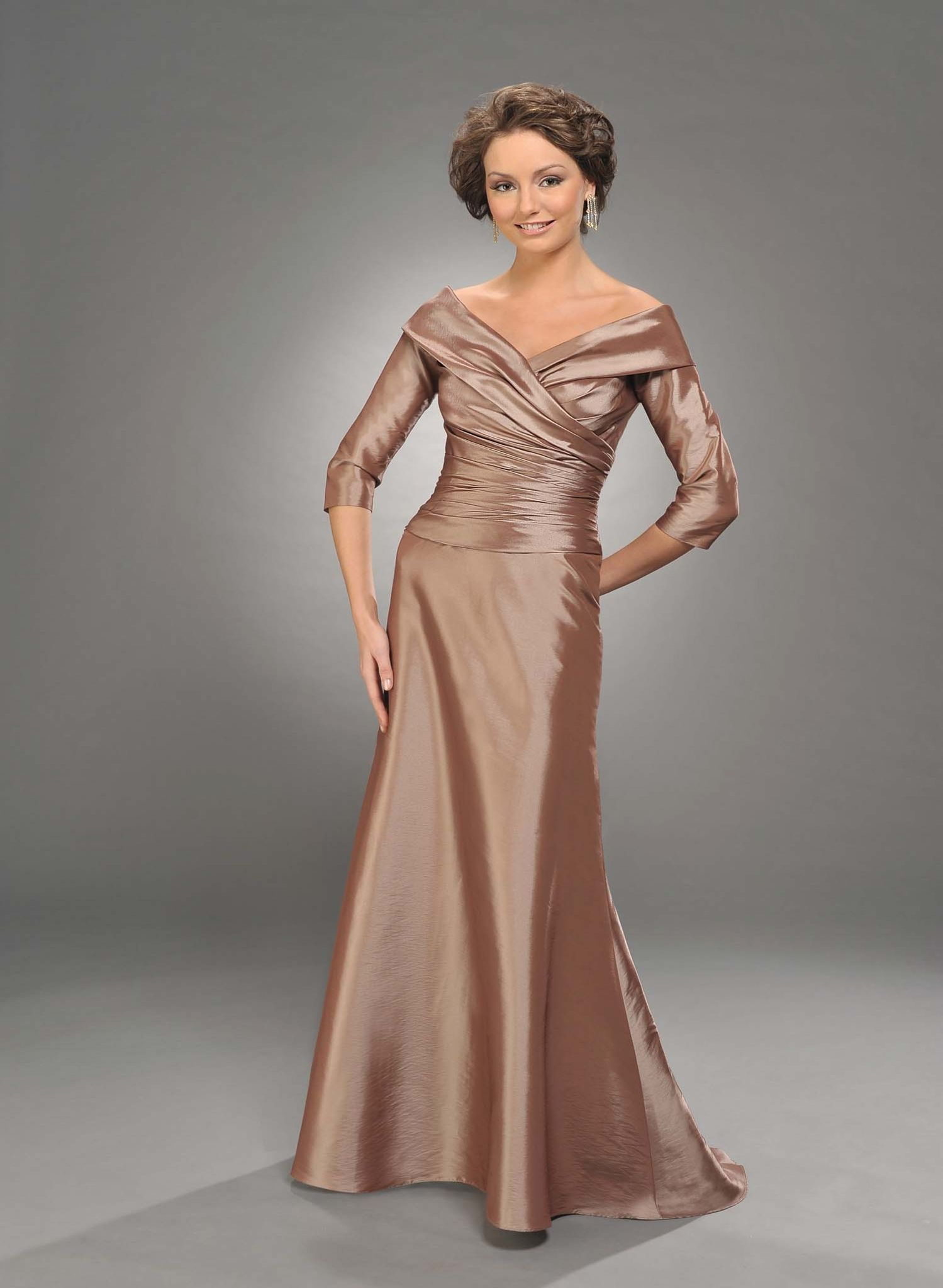 2013 Champagne A-Line V-Neck Zipper Floor Length Mother of Bride ...
