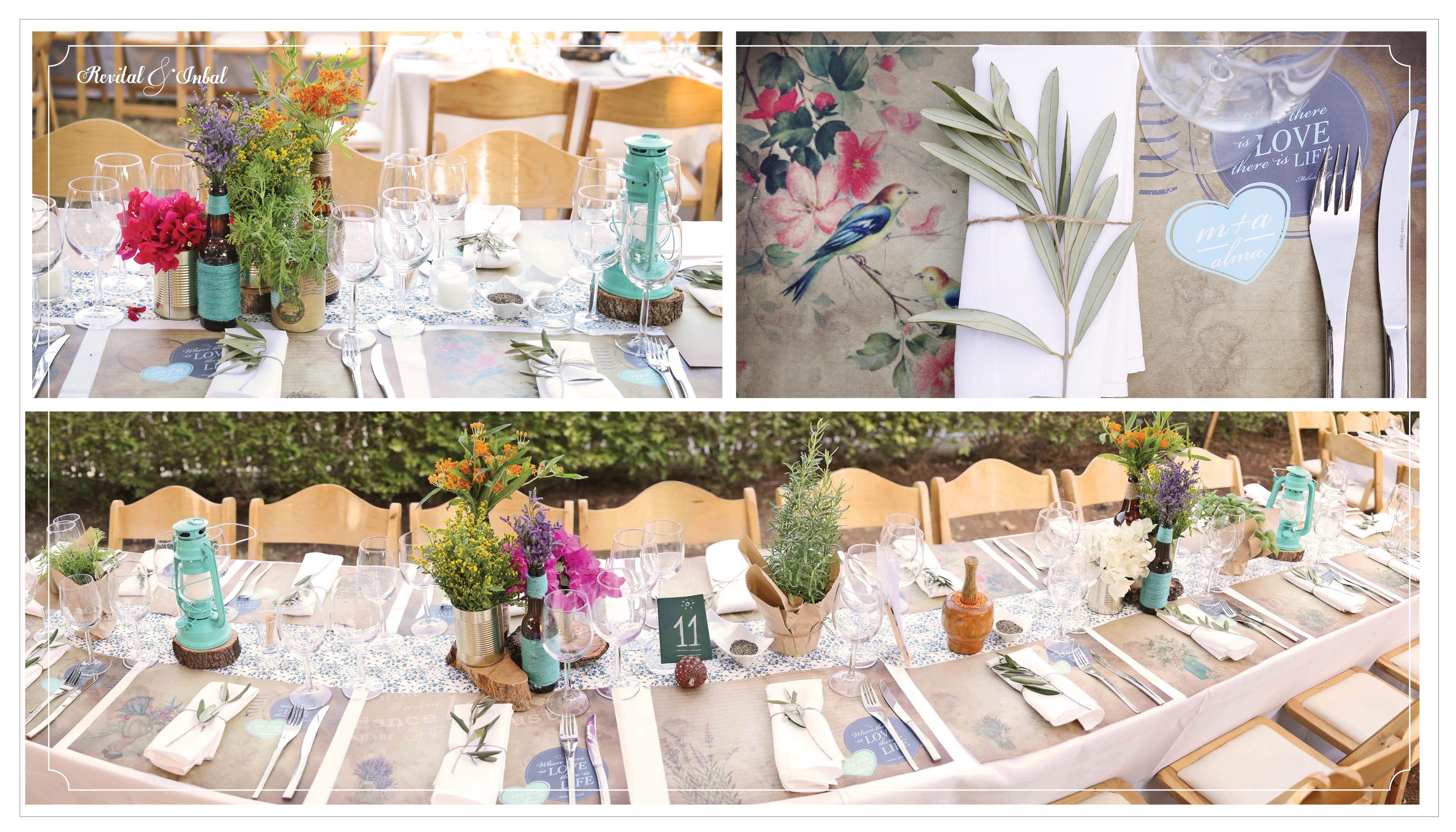 Peasant wedding design עיצוב חתונת איכרים Table