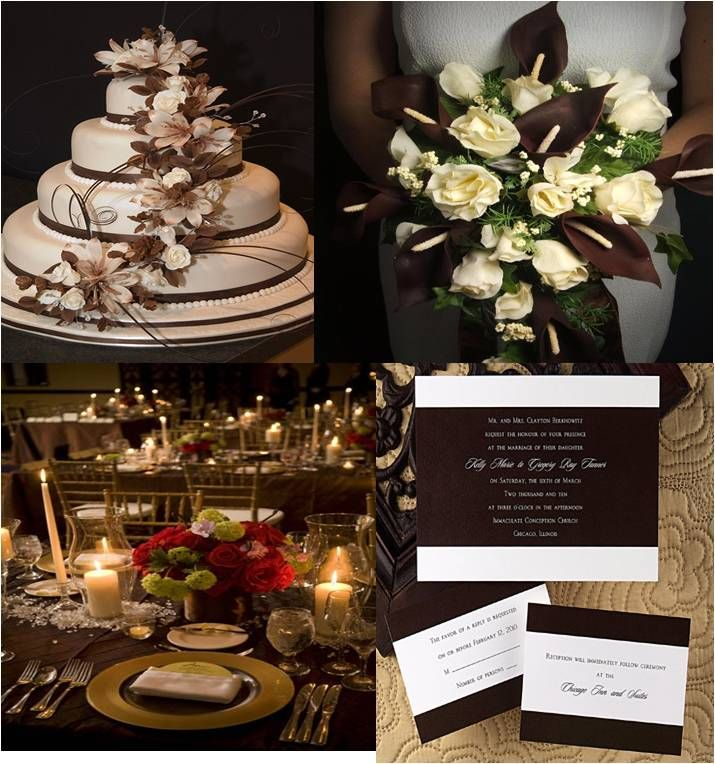 Brown And Gold Wedding Ideas: Brown And White Wedding Decorations