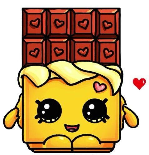 Shopkins #4 | draw so cute | Pinterest | Shopkins, Kawaii ... - Dessin Tablette De Chocolat