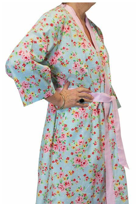 Linens n Things Alice Blue Bathrobe Shabby Chic Floral Dressing Gown ...