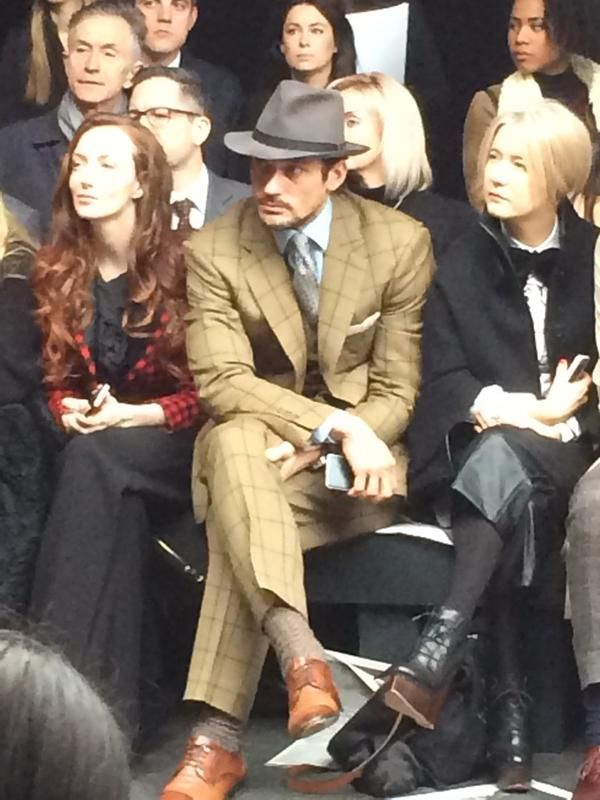 """gurd op Twitter: """"David Gandy channelling Mad Men today. Into it. http://t.co/oR4QgkKnIR"""" - january 12, 2015"""