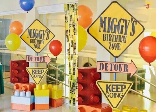 Miggy S Lego Construction Themed Birthday Party 7th Birthday Lego Themed Party Construction Theme Party Construction Themed Birthday Party
