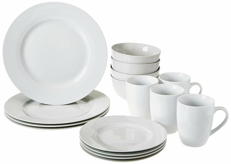 16 Piece Dinnerware Set Service For 4 Include Dinner Dessert Plate