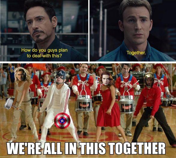 U crazy Avengers fandom #marvelavengers