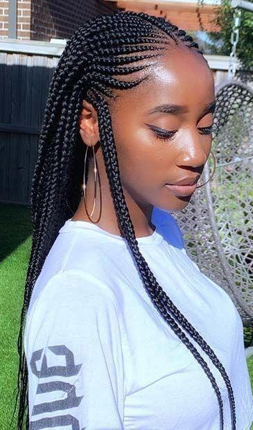 Cornrow geflochtene Frisuren für natürliches Haar: 50 Catchy Cornrow Braids Frisuren Ideen zum Ausprobieren - #braids #catchy #cornrow #frisuren #geflochtene #naturliches - #new #boxbraidstyles