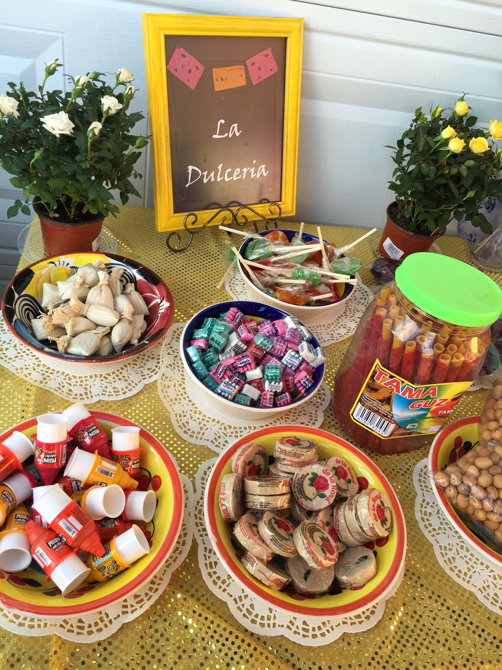 Mexican Candy Buffet Mexican themed fiesta