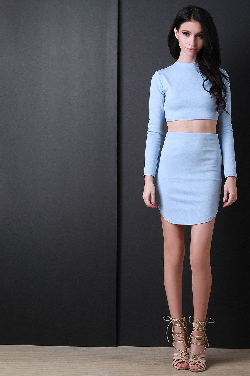 Jersey Knit Mini Skirt