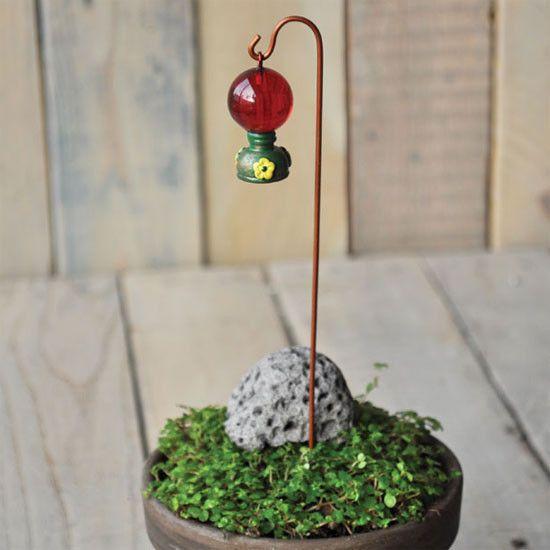 Hummingbird Miniature Dollhouse FAIRY GARDEN Yellow /& Orange Accessories