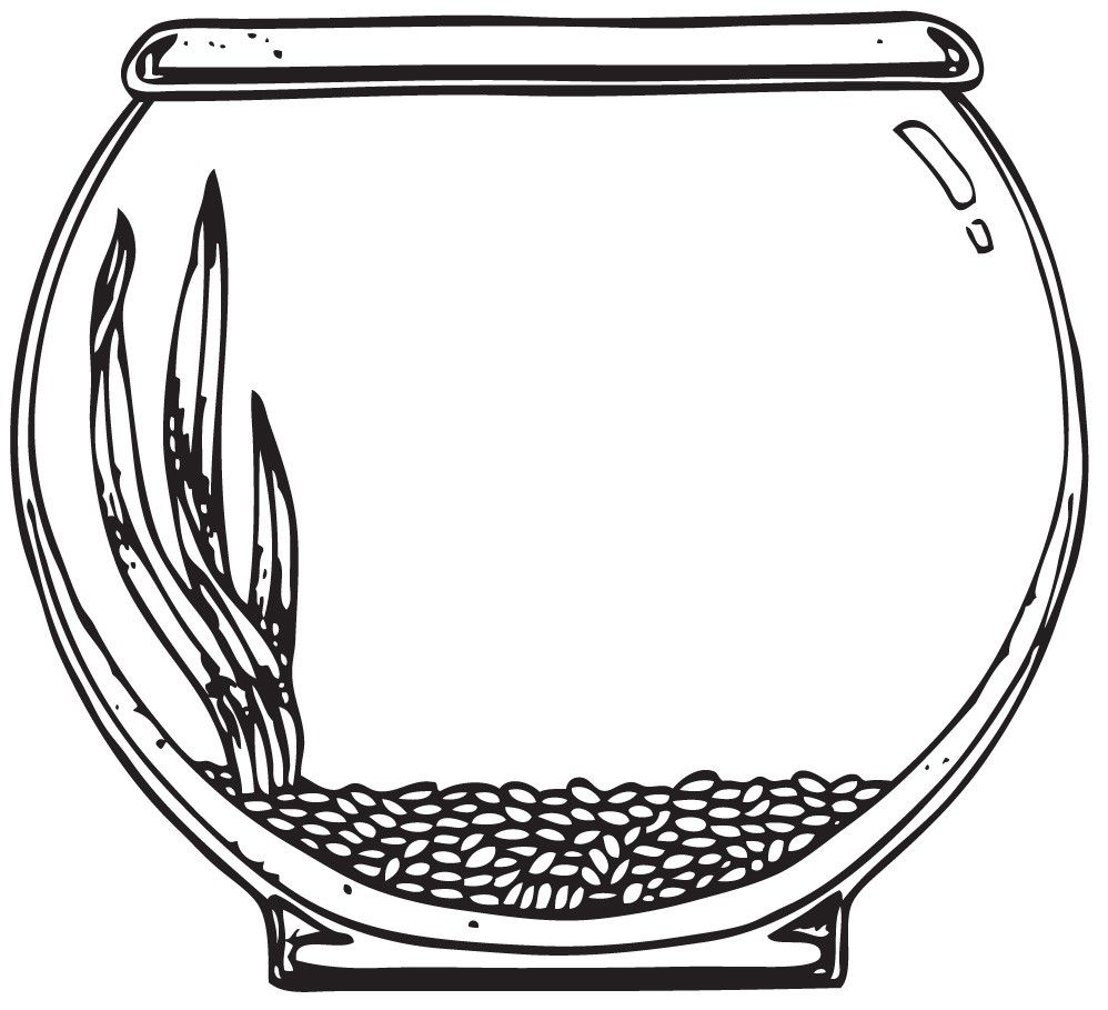 Use the form below to delete this Fish Bowl Clip Art Black And