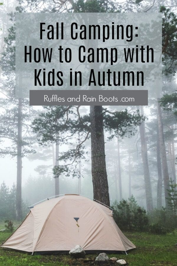 Photo of Fall Camping Tips When Camping with Kids