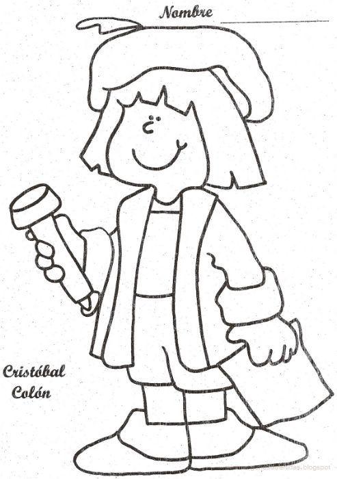 Dibujo de Cristibal Colon | Kinder-Ideas | Pinterest | Preschool ...