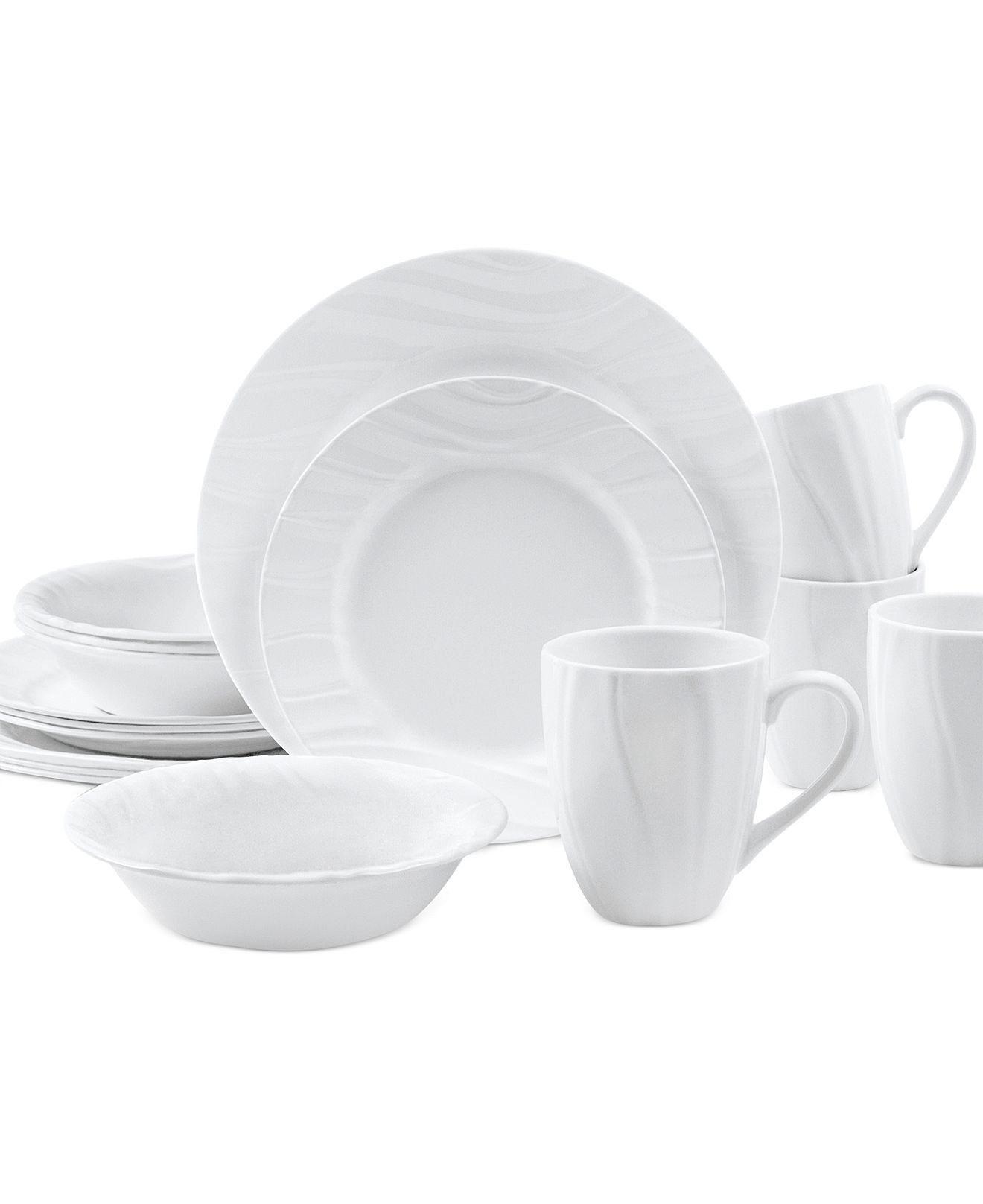 Corelle Swept Embossed Dinnerware On Macys Com Corelle
