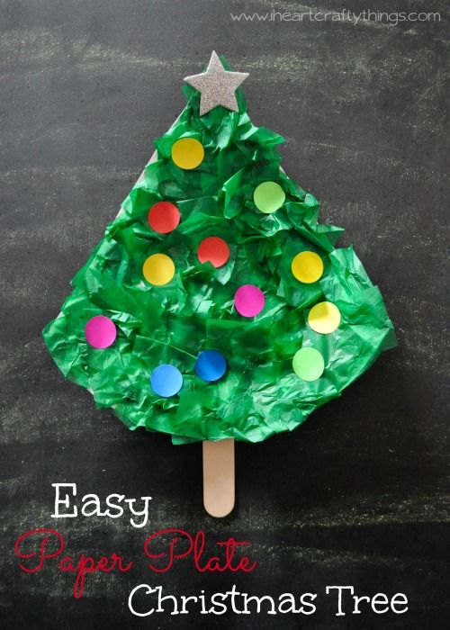 Easy Paper Plate Christmas Tree Craft I Heart Crafty Things Preschool Christmas Crafts Christmas Tree Crafts Preschool Christmas