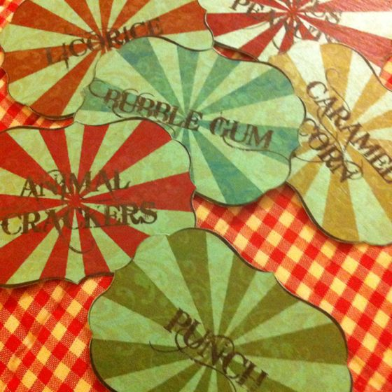 Apothecary jar labels for a circus party!