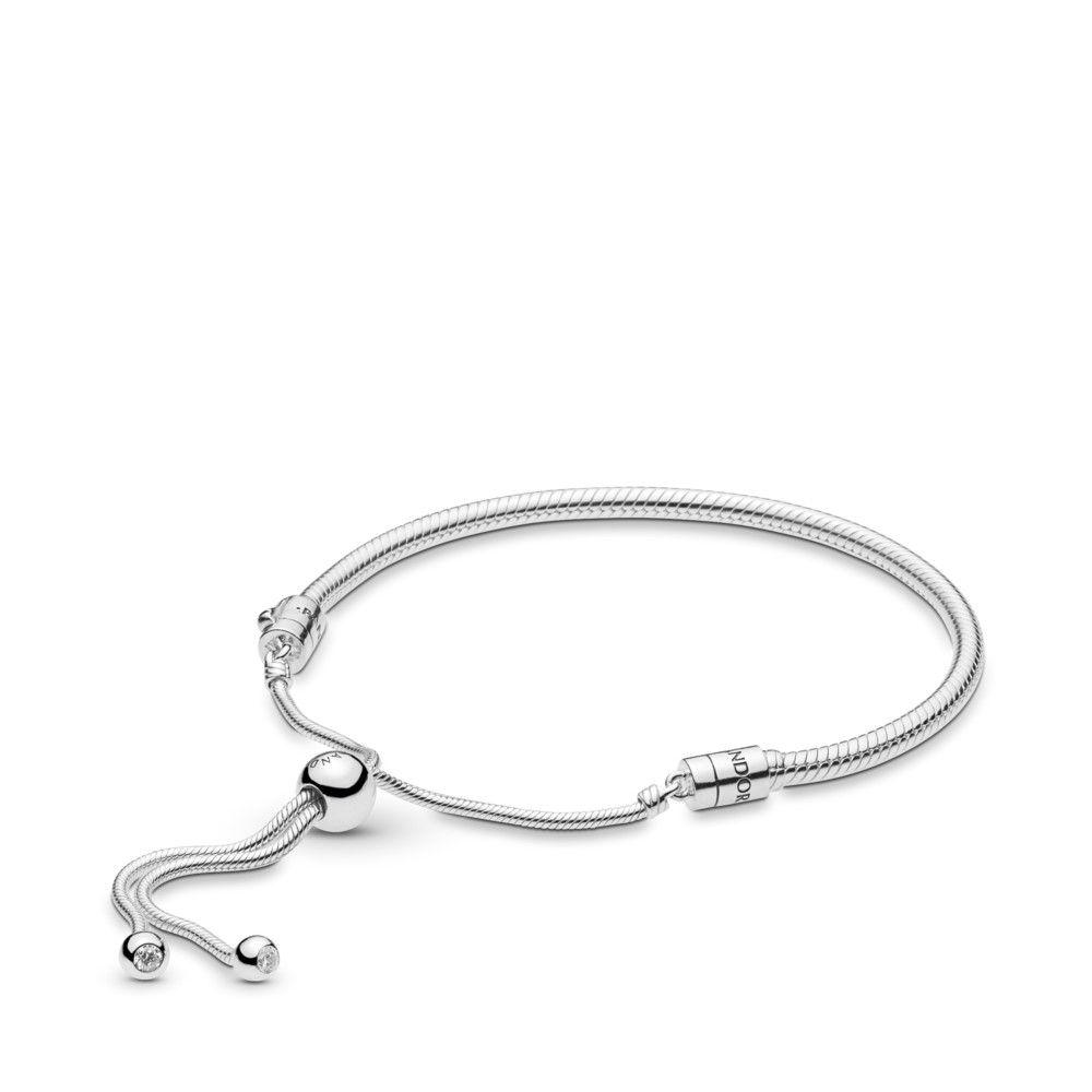 Moments Silver Sliding Bracelet - 597125CZ-2 - Bracelets | PANDORA