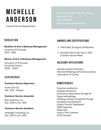 White Simple Customer Service Resume Resume Pinterest - free customer service resume templates