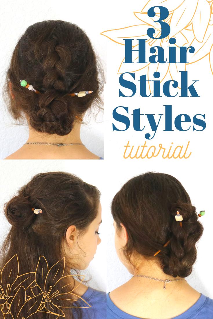 Easy Hair Stick Styles Hair Sticks Hair Styles Hair