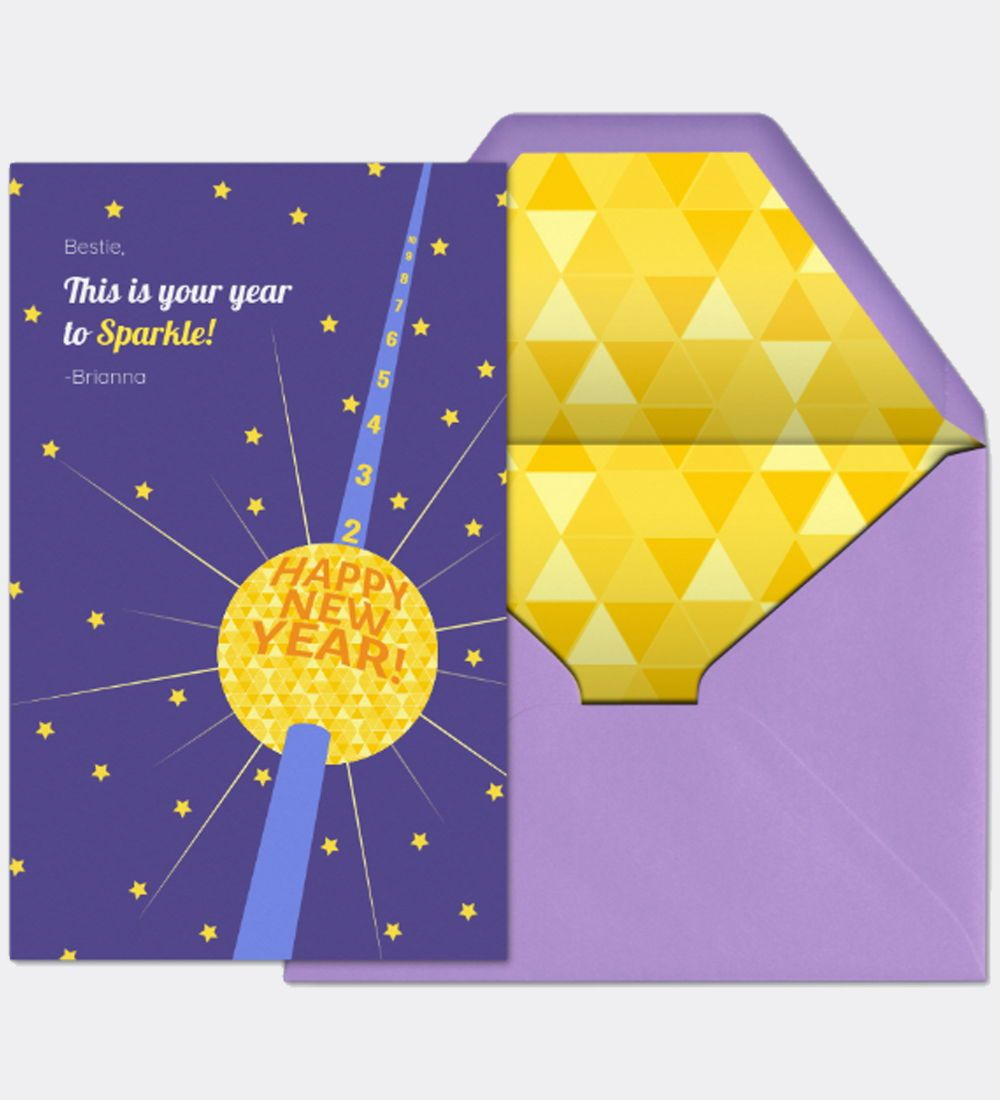 This Is Your Year To Sparkle Use This Premium Ad Free Evite Card To Send New Year S Wishes To Family And Friends New Year Wishes Online Invitations Cards