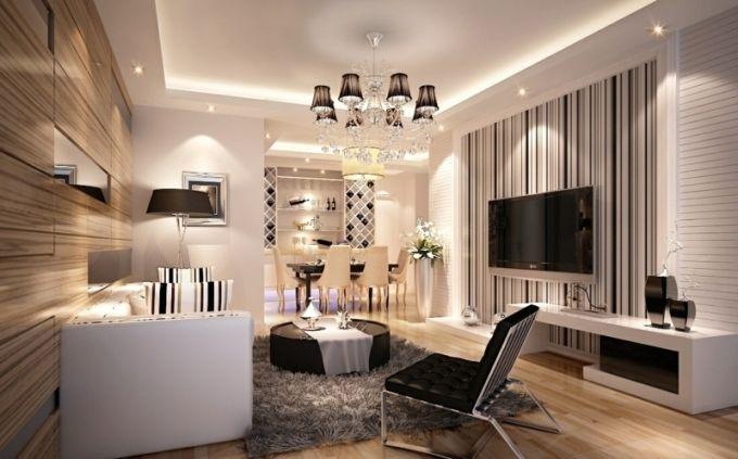 Ideen Fur Wand Streifen Ein Beliebtes Designelement Zuhause In Bezug Auf Zuhause Im Gluck Wohnzimmer Schone Wohnzimmer Zuhause Dekoration Wohnzimmerdesign