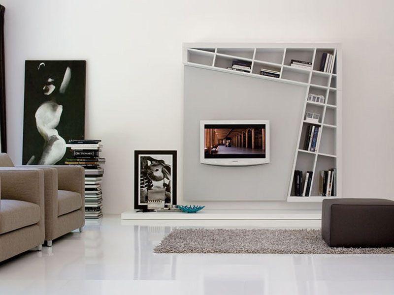 Decoraci n centro de entretenimiento minimalista buscar - Libreros de madera modernos ...