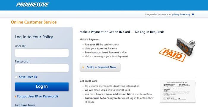 Progressive Bill Pay Login To Progressive Com Online Payment