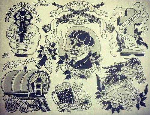 Peaky Blinders Tattoo Flash