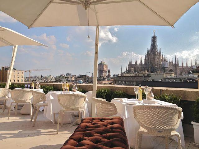 Terrazza Del Ristorante Boscolo Hotel Sanbabila Milan