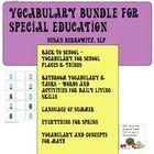 http://www.teacherspayteachers.com/Product/Vocabulary-Super-Bundle-for-Special-Education_Autism_school-seasons-math-ADL-812085: Vocabulary Bundle for special education contents:  1. Back to School with I'm Your Bus: vocabulary for school with vocabulary cards, activities, worksheets 2....