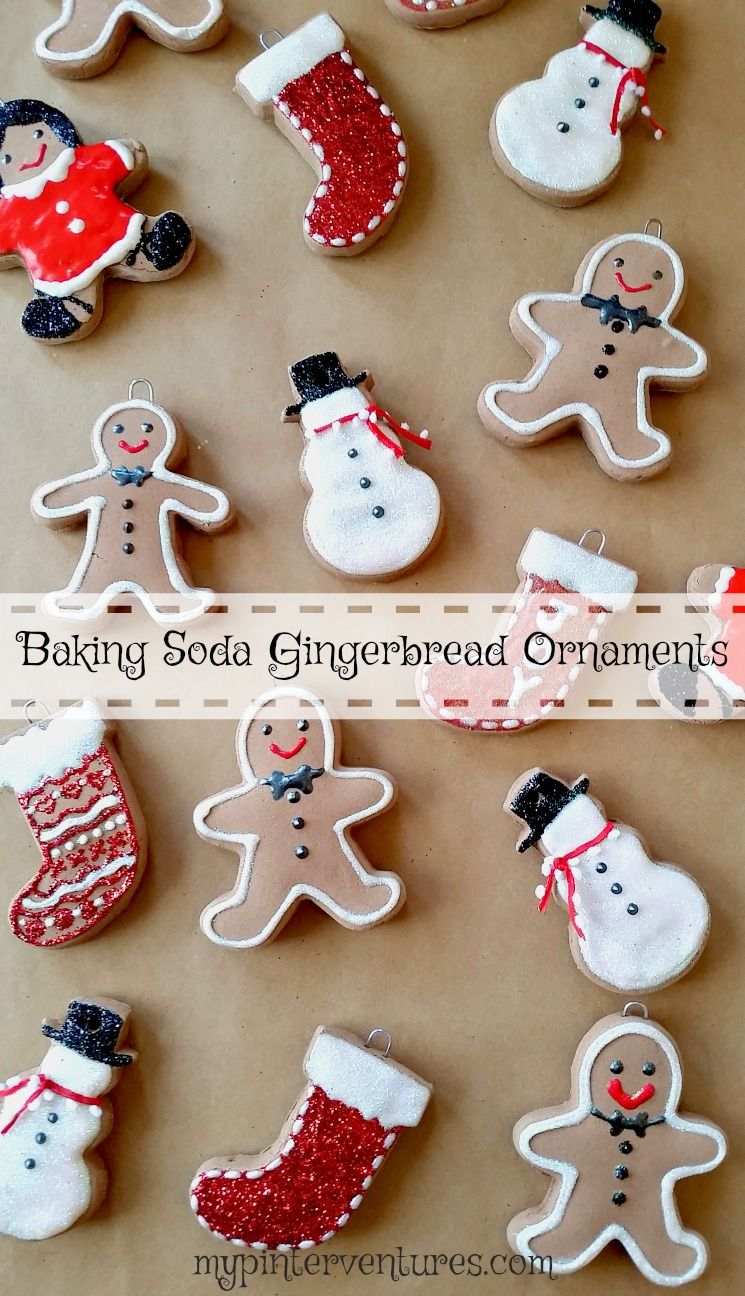 Baking Soda Gingerbread Ornaments Gingerbread Ornaments Handmade Christmas Ornaments Gingerbread
