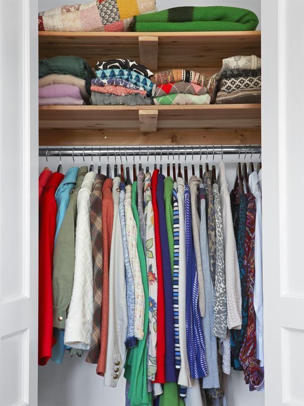 Sarah Richardson's closet, from HGTV Magazine. #organize