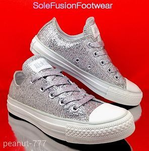 0bf8be14cef8 Converse-All-Star-womens-Glitter-Trainers-Silver-Sequin-Size-4-UK-Girls-EU -36-5