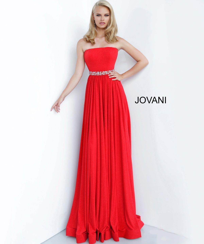 Jovani 02379 Straight Neckline Embellished Belt Prom Dress Promdresseslong Red Prom Dress Long Red Prom Dress Prom Dresses Jovani [ 1440 x 1200 Pixel ]
