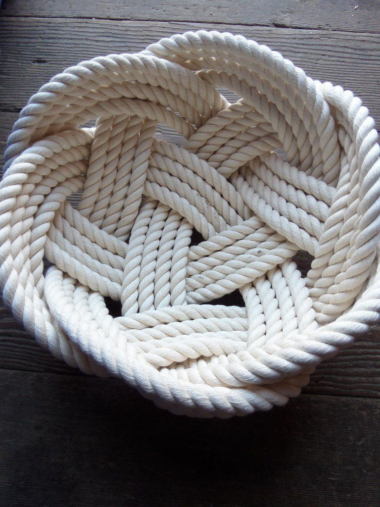 Cotton Knotted Bowl Rope Basket 10 X 5 Ly Woven
