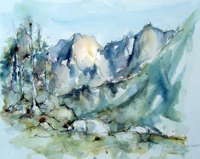 Resultat De Recherche D Images Pour Aquarelle Montagne Pyrenees