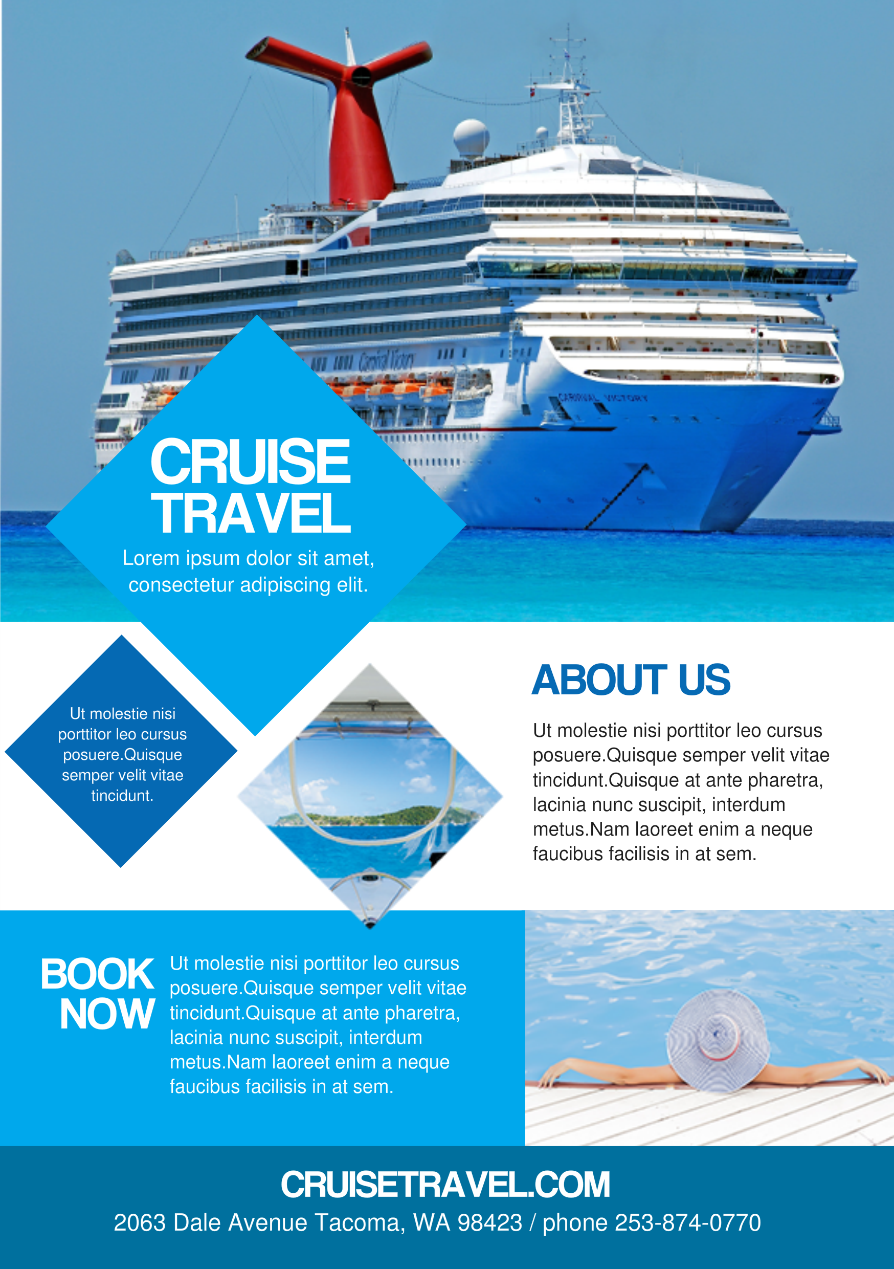 cruise travel a5 promotional flyer       premadevideos