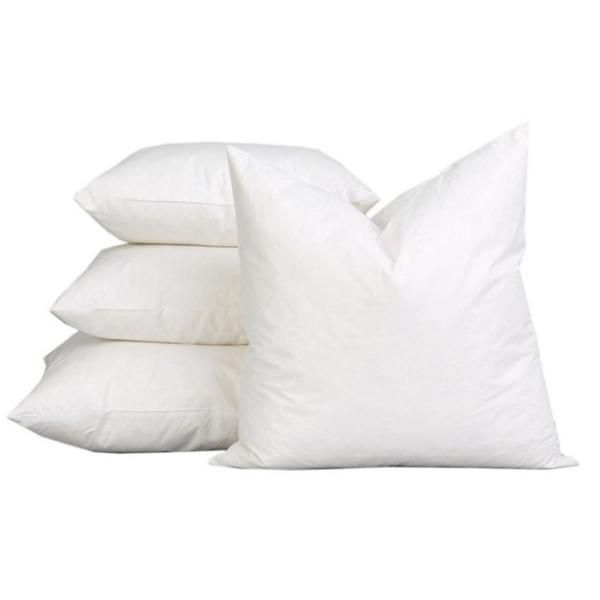 White Solid Down Alternative 22 In X 22 In Throw Pillow Set Of 2 A1home400001 22 X22 The Home Depot