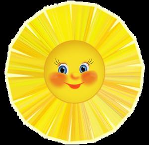 Клипарт - Солнце и радуга | Školka, Hodiny