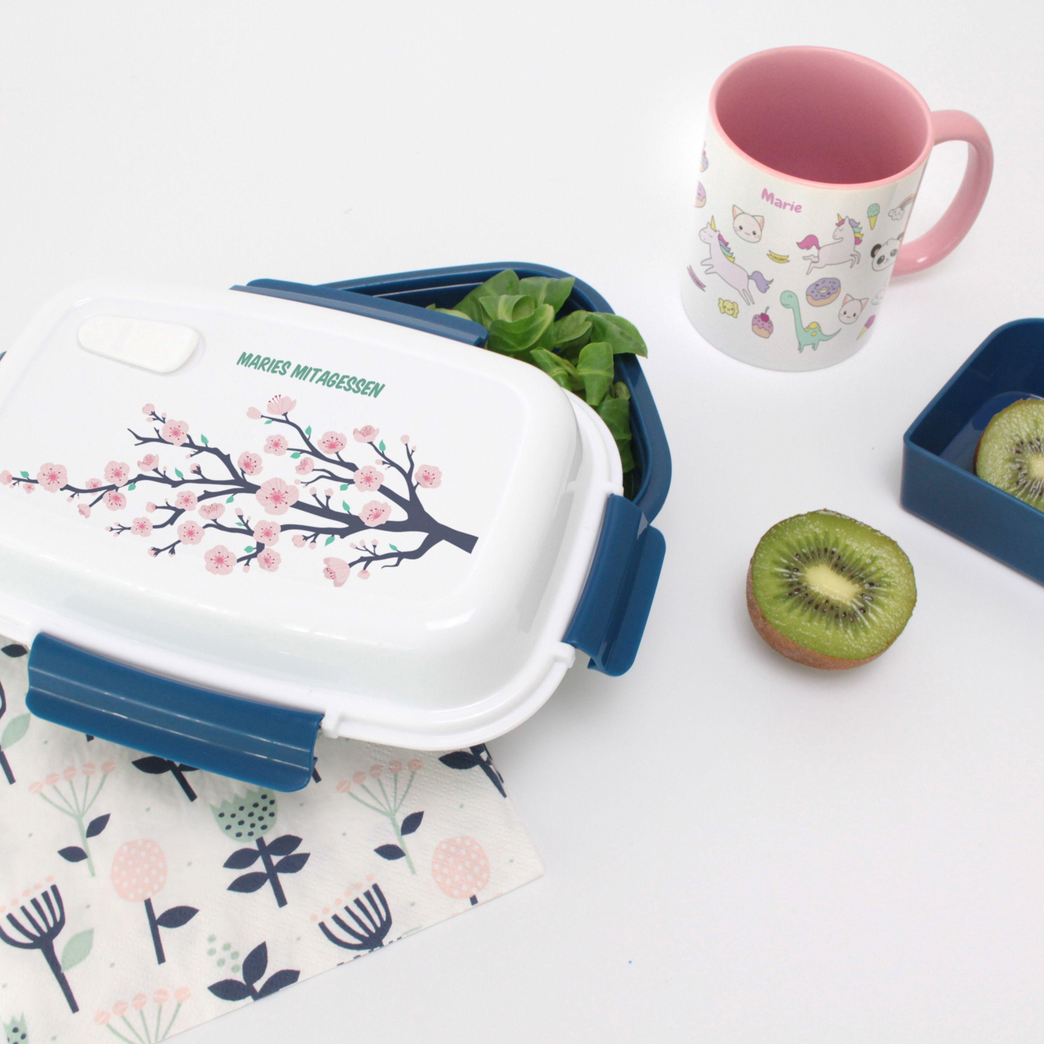 Personalisierte Brotdose Kirschbaum  – Unsere personalisierten Brotdosen ohne BPA