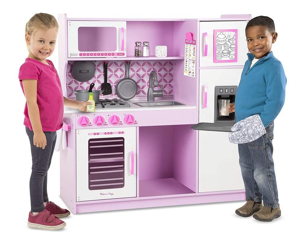 Wooden Kitchen Toy Xl Chef Cook Pretend Play Kitchen Girls Boys