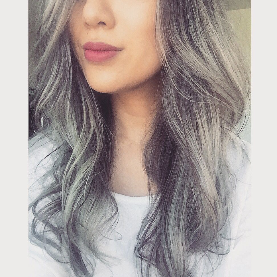 Silver Hair Gray Ombr Silver Bayalage Asian Hair I Want Want