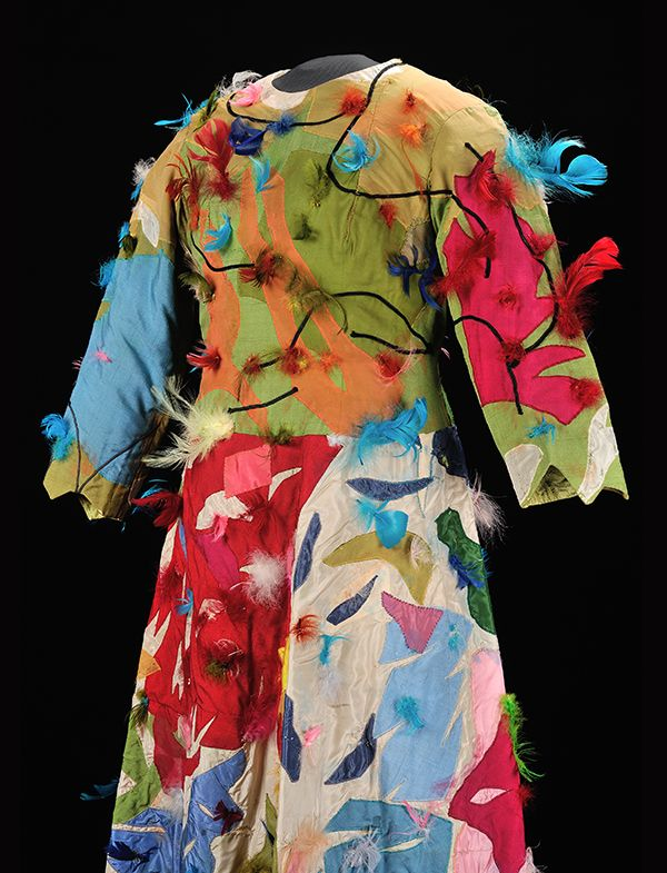 Papagena costume designed by Marc Chagall for Loretta di Franco in Mozart's Magic Flute, 1967.