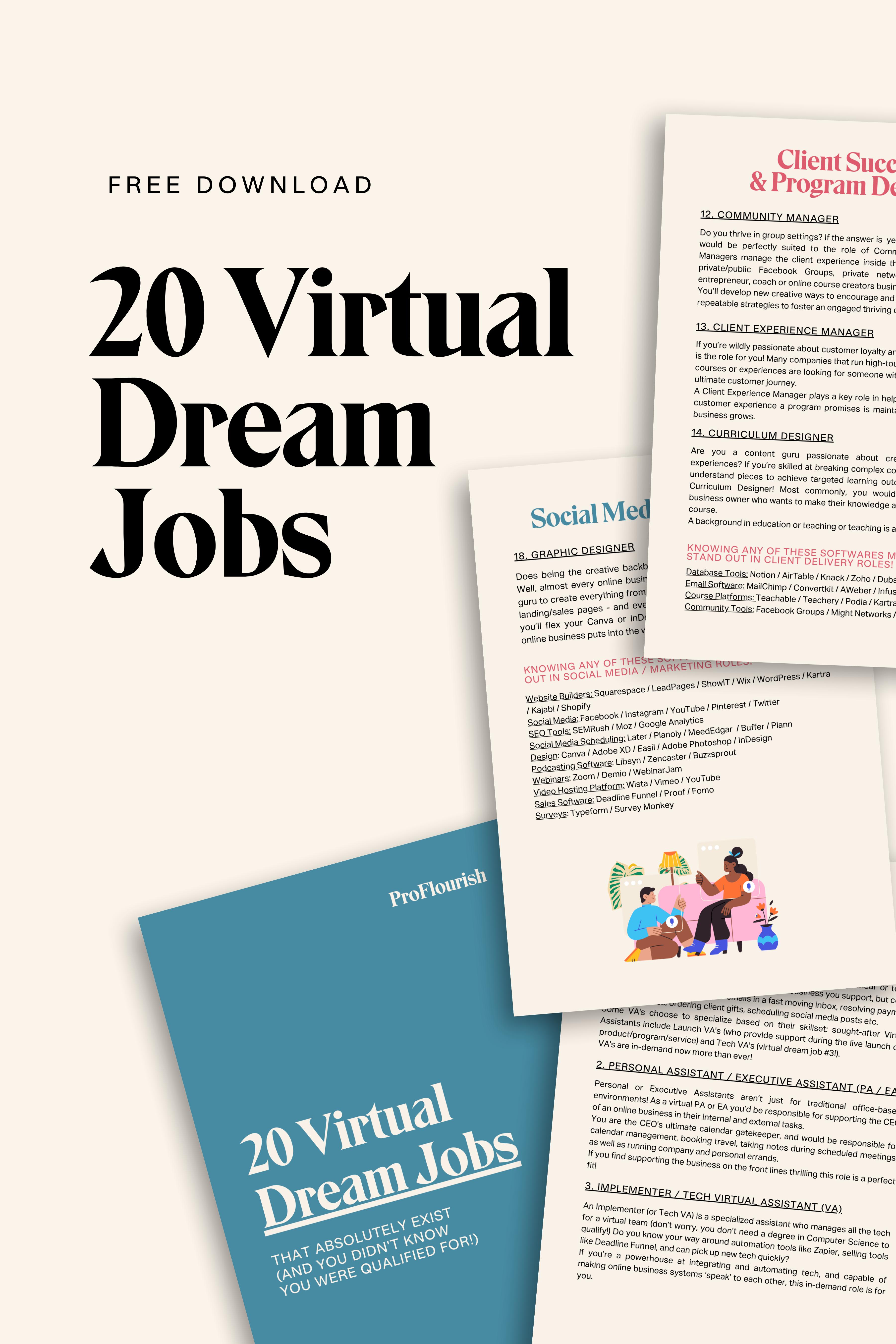 Find Your Virtual Dream Job A List Job Virtual Jobs Dream Job