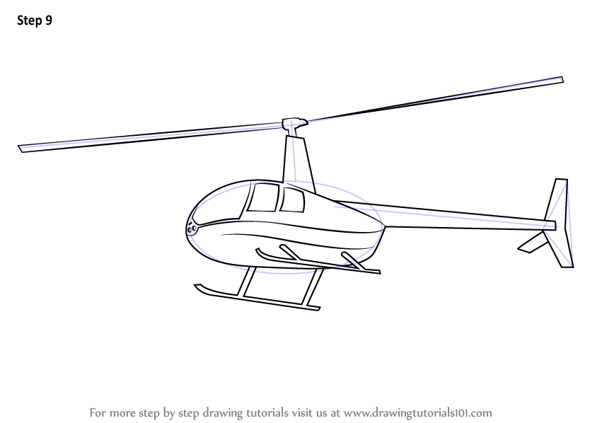 Learn How To Draw A Flying Helicopter Rotorcrafts Step By Step Drawing Tutorials Flying Helicopter Helicopter Drawing Tutorial