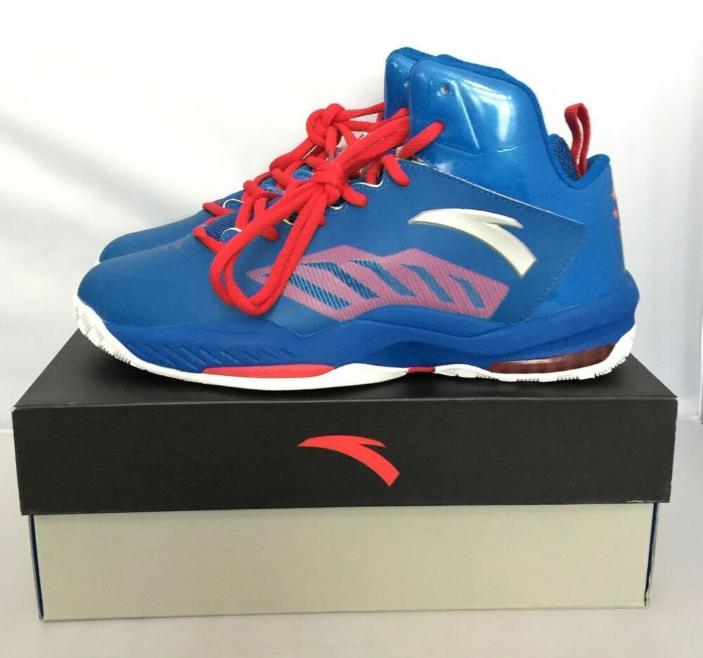 Blue Red NBA Basketball Sneakers Shoes 8.5 US 43 EUR - COMPLETE CHINESE BOX