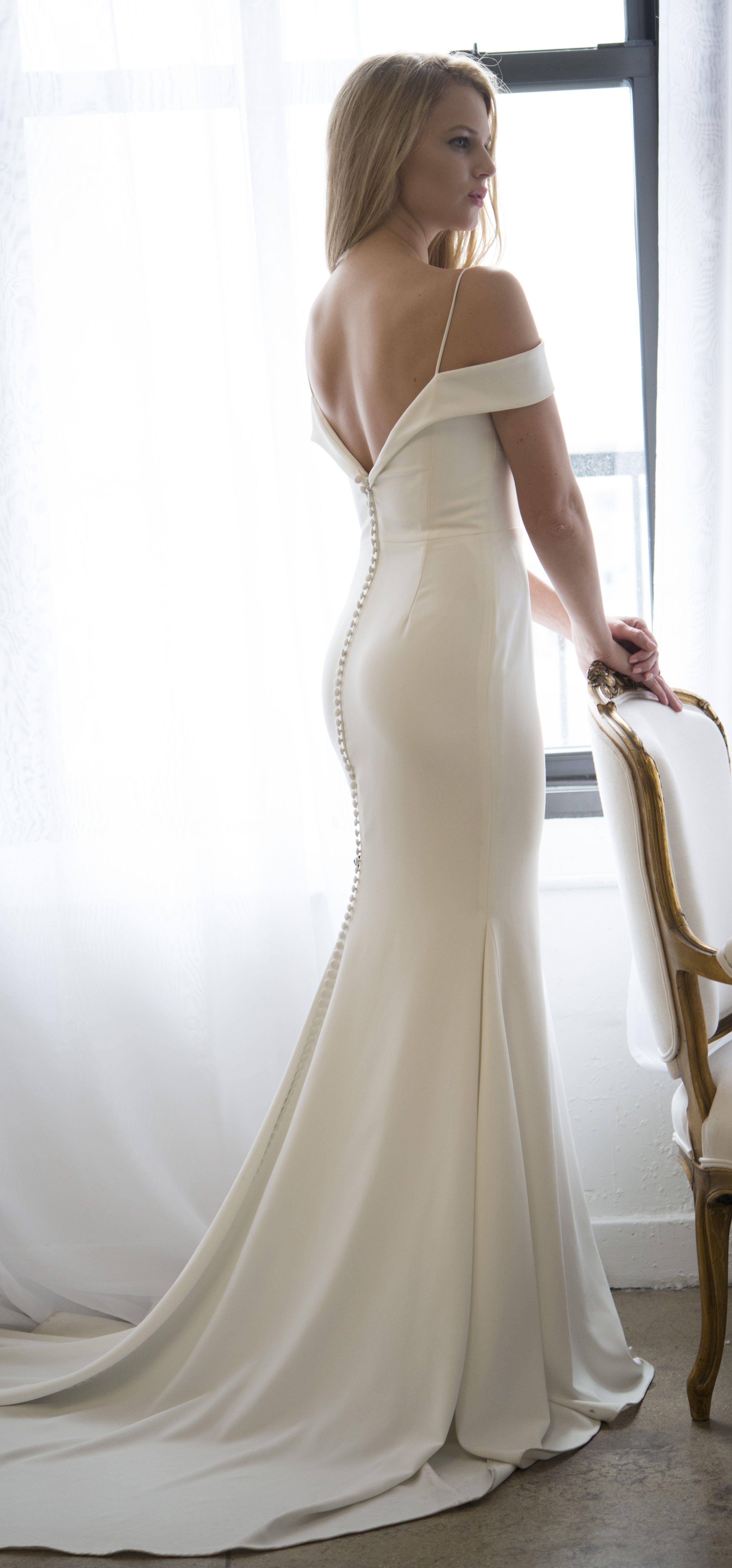Kelly Faetanini Phoebe Crepe Fabric Wedding Dress Wedding Dresses With Straps Simple Wedding Gowns Trendy Wedding Dresses
