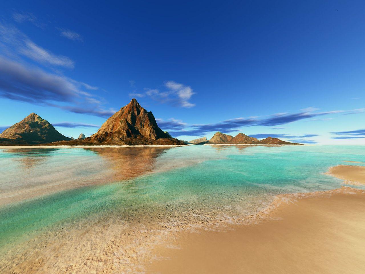Sandy beach 1280x960 background