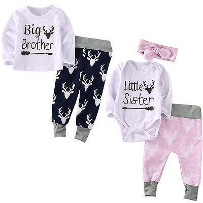 Baby Girl Big Sister Hooded T Shirt Newborn Girl Little Sister Floral Romper Long Sleeve Bodysuit Onesie Matching Set