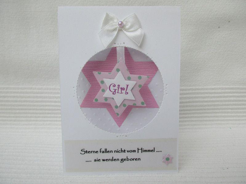 Karte+zur+Geburt,+Taufe,+Mädchen+von+UNIKAT-die+Kreativ-Werkstatt+auf+DaWanda.com