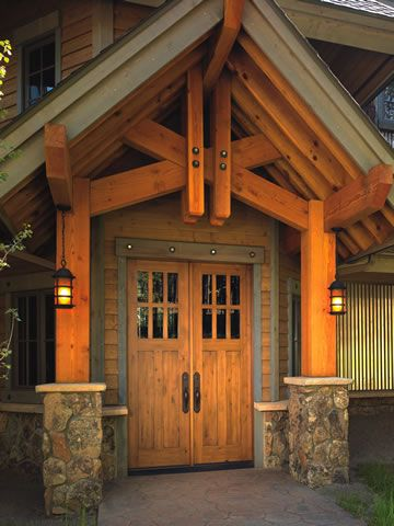 Beautiful Wooden Portico Home Our Future Exterior